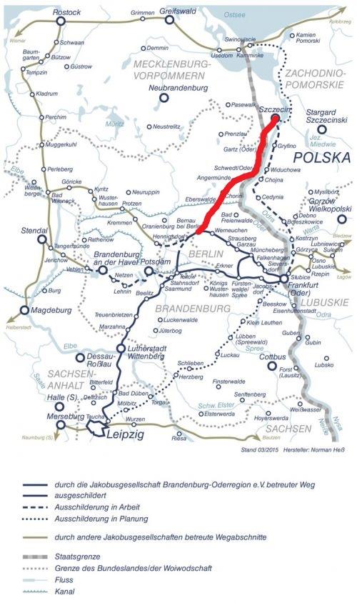 Karte Stettin Berlin